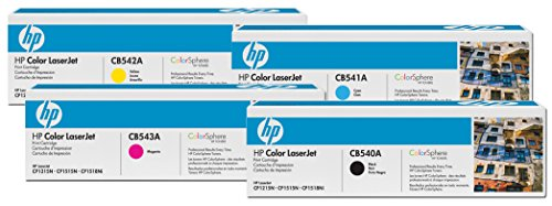 HP Original 125A Toner 4er Set schwarz, Cyan, Magenta, gelb(CB540A, CB541A, CB542A, CB543A) -