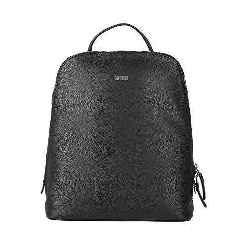 BREE Cary 4, Navy, Backpack - Borsa Donna, Blau (Navy), 12.5x32x27 cm (B x H T) Nero (Black)