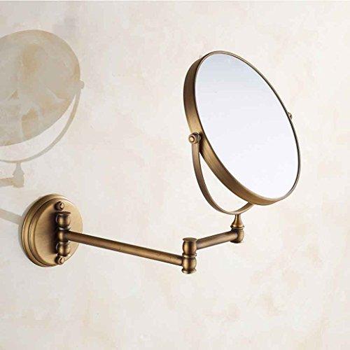Miroirs Salle De Bains Mural Pliant Salle De Bains Télescopique Laiton Cadre Flip Fold 3X Loupe
