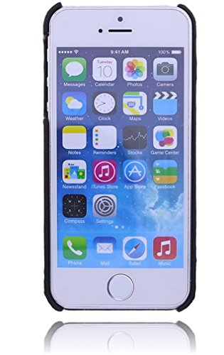 Apple iPhone SE / 5 / 5S Leder Hülle | Handyhülle | Schutzhülle | Leder-Cover | Case | Backcover | Tasche | Bumper mit bruchfester Schale im Vintage / Retro Look by Burkley (Cognac) Dunkel Braun