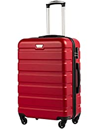 ddd8dc2e7 COOLIFE Suitcase Trolley Carry On Hand Cabin Luggage Hard Shell Travel Bag  Lightweight 2 Year Warranty