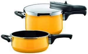 silit 2129260387 sicomatic t plus schnellkochtopf duo 4 5 und 3 liter crazy yellow. Black Bedroom Furniture Sets. Home Design Ideas