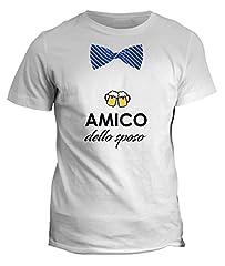 Idea Regalo - fashwork Tshirt Amico dello Sposo - Addio al Celibato - in Cotone by