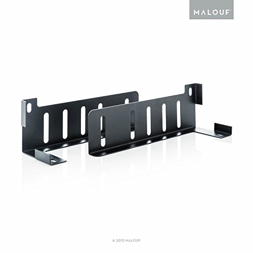 Strukturen von Malouf Highrise Kopfteil/Trittbrett Halter-Set von 2 (Metall-trittbrett-set)