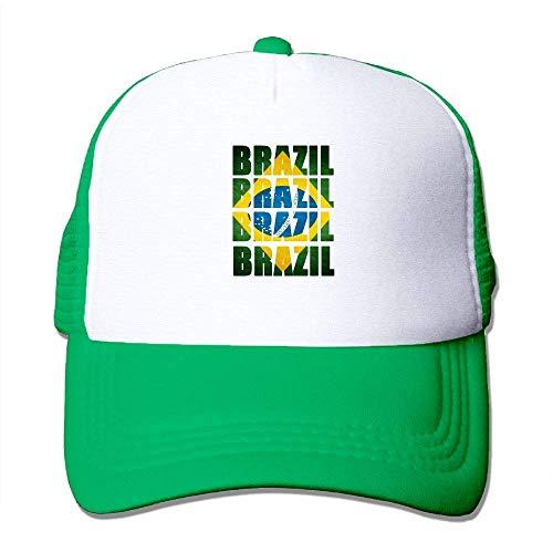 Voxpkrs Brasilien-Flagge Adjustbale Baseballmützen-Sommer-Sonnenhut-Verfolger-Kappe U8I0013160