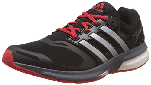 adidas Men's Questar Boost Tf M Core Black, Silver Metal and Vivid Red Mesh Running Shoes - 6 UK  available at amazon for Rs.4799