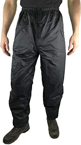 HOCK Unisex Regenhose Fahrrad 'Comfort Klima' mit verstärktem Gesäß - Radsport Regenbekleidung 100% Wasserdicht für Herren und Damen Regenschutz (L, Schwarz)