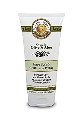 Face Scrub - Exfoliating Face Wash - Gentle Facial Peeling - Facial Cleanser - By Venus Secrets Natural Cosmetics - 100ml - For all Skin types - Helps To Reduce The Appearance Of Acne Scars - Cleanses and Hydrates, Leaving Skin Soft, Smooth, And Bright -