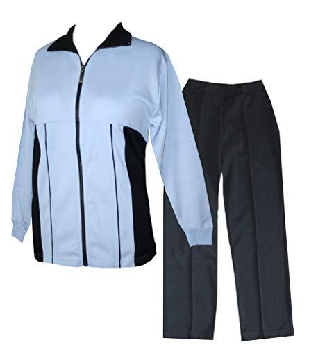 Schneider Sportswear Senioren Damen Trainingsanzug, Hausanzug, Sport-Fitness (40, hellblau/dunkelblau)