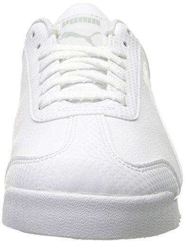 Puma Roma L Metallic Sneaker White-Puma Silver