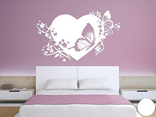 Klebefieber Wandtattoo Traumhaftes Herz B x H: 80cm x 50cm Farbe: weiß -