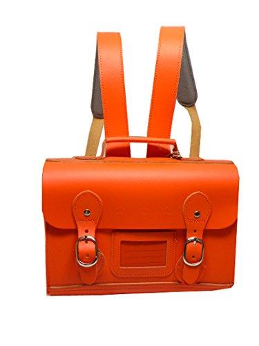 Pepper Bags Vintage Ranzen, Handtasche, orange, 24 x 10 x 17 cm, Leder (Leder Ranzen)