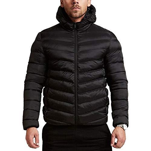 TWBB Herren Bekleidung Winter Warme Kapuzen Daunenjacke Kapuzenpullover Mantel Outwear Oberteile Mit Tasche Reißverschluss