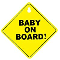 MaylFre Car Warning Stickers Baby on Board Sign Vehicle Safety Sticker with Suction Cups Safety Sign Sticker for Cars