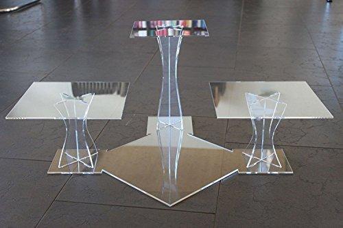 Tortenständer Tortenetagere Acryl Etagere Hochzeit 3 Etagen Plexiglas 20x20 25x25 30x30cm