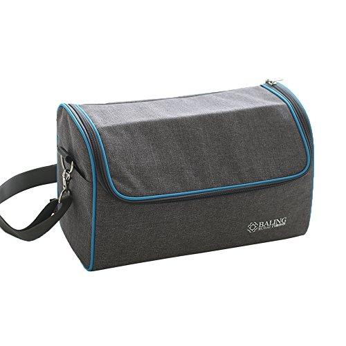 TININNA Oxford mittagessen Tasche mit Reißverschluss aluminiumfolie verdicken Isolierte Tasche Kühltasche Kühler Lunchpaket für Camping Picknick Mahlzeit Reise Sport EINWEG Verpackung -