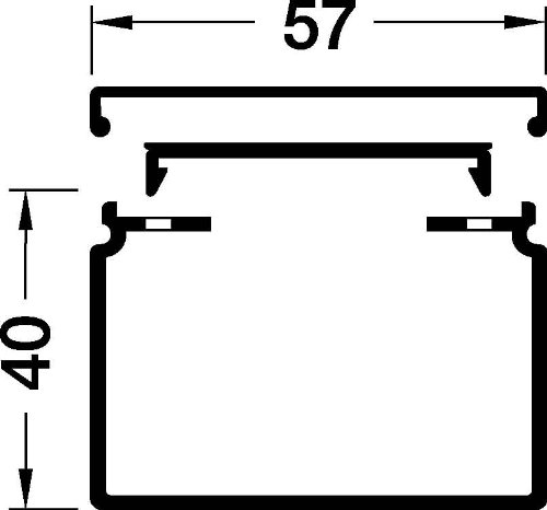 HAGER TEHALIT LFH - CANAL LFH 40X60 BLANCO NIEVE