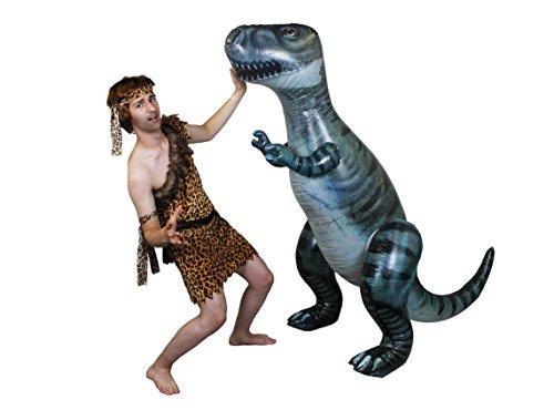 STEINZEIT KOSTÜM FÜR ERWACHSENE UND EIN 170cm GROSSER DINOSAURIER T-REX ZUM AUFBLASEN = WENN DAS NICHT DIE FEUERSTEINS EIFERSÜCHTIG MACHT = DAS PERFEKTE PAAR DER STEINZEIT=KOSTÜME FÜR ERWACHSENE, ERHALTBAR IN (Park Design Jurassic Kostüm)