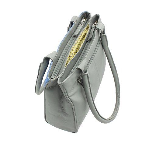 Pelle mala spalla BEAU Collection Borsa in pelle grigia 7111_89 Grey
