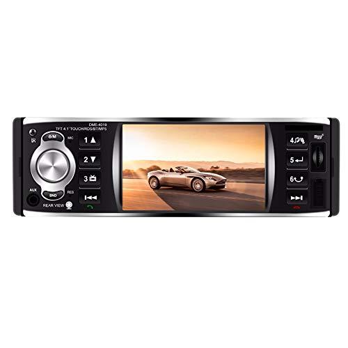 TOOGOO 1Din 4,1 Zoll Autoradio Presse Bildschirm Automatisches Audio Stereo Fm Bluetooth 2.0 Mp5 Spieler Rueckfahrkamera Dme-4019