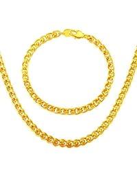 flor de Corea del Sur son los hombres&joyas de oro de la mujer al por mayor 18k plateó el collar de la joyería de la pulsera 5.3mm