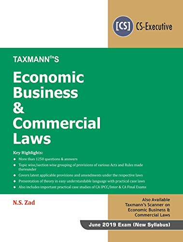 Economic Business & Commercial Laws (CS-Executive)(January 2019 Edition)(For June 2019 Exam-New Syllabus) Descargar ebooks PDF