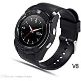 Samsung V8 Smart Watch With Camera || Smart Watch With Memory Card|| Smart Watch With Sim Card Support ||fitness Tracker|| Bluetooth Smart Watch||Wrist Watch Phone|| Smart Watch With Facebook. Whatsapp|| 4G Smart Watch||Any Color ||Best In Quality|| Compa