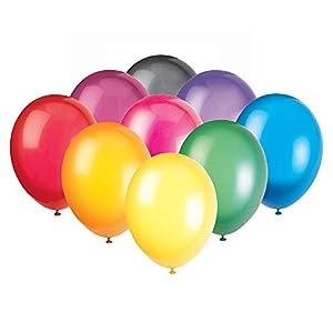 Unique Party Paquete de 50 Globos de Fiesta de látex, Multicolor, 30 cm (56870) , Modelos/colores Surtidos, 1 Unidad