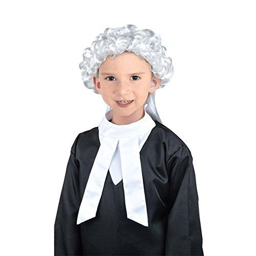 Biback Anwalt Kostüm mit Perücke für Kinder Anwalt -