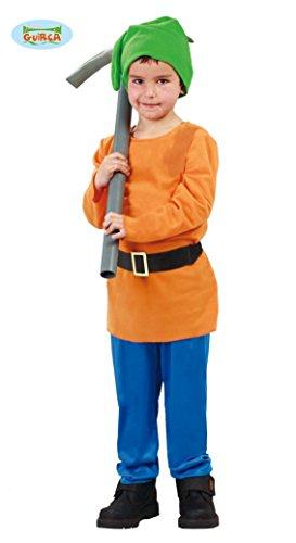 Kostüm Zwerge Sieben Zubehör - Wald Zwerg - Kostüm für Kinder Gr. 110 - 146, Größe:140/146