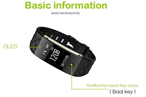 Unchained Warrior® D-Charge Smart Heart Rate Fitness Tracker Watch – Best Quality Wearable Smart Band for Activity Tracking: Calorie Counter, Sleep Tracker, Alarm, Sports Running Bracelet and Pedometer for Boys, Girls, Men & Women. Works with Apple iOS and Android, Samsung HTC Huawei with Notifications – BLACK STRAP