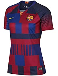 Nike 2018-2019 Barcelona Anniversary Ladies Football Soccer T-Shirt Camiseta