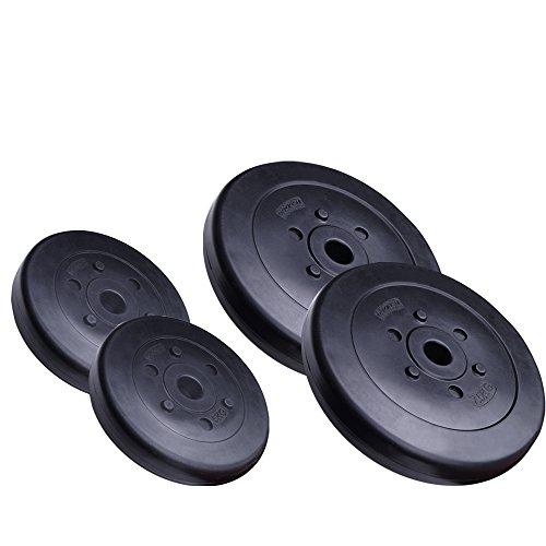 ScSPORTS 25 kg Hantelscheiben-Set Kunststoff 2 x 5 kg + 2 x 7,5 kg Gewichte 30/31 mm Bohrung