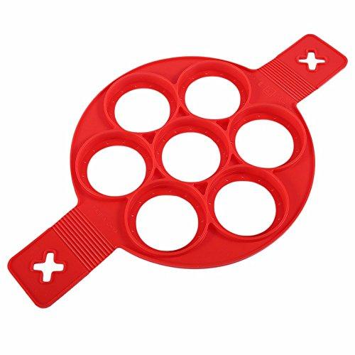 KAINI Nonstick Silikon Ei Ring Pfannkuchen Form, Neue verbesserte Silikon auslaufsichere Design, Fantastic Fast&Einfache Möglichkeit Perfekte Pancakes