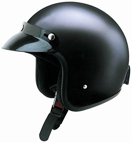 Redbike Helm RB-710 Jethelm Rollerhelm Retrohelm Motorrad schwarz matt M