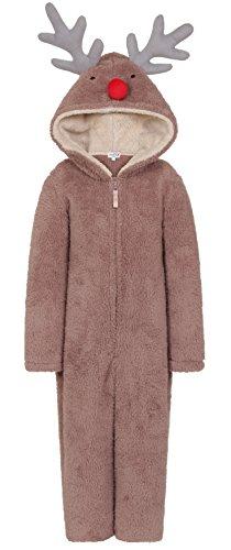 Kinder Fleece Hoody All in One Schlafanzug AIO, -