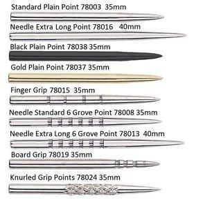Einhorn Unisex Nadel extra lang 6Groove Punkte, Silber, one Size