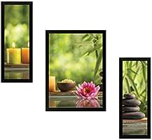 SAF 'Lotus' Nature Painting (Synthetic, 35 cm x 50 cm x 3 cm)