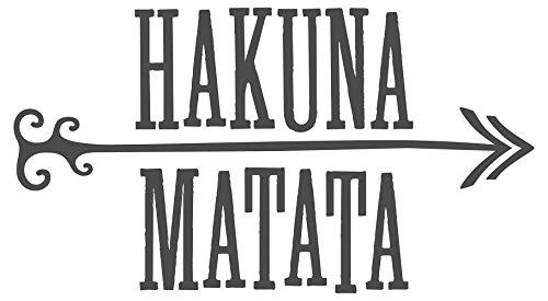 Wandtattoo Spruch Hakuna Matata Wandaufkleber Wohnzimmer Wandsticker