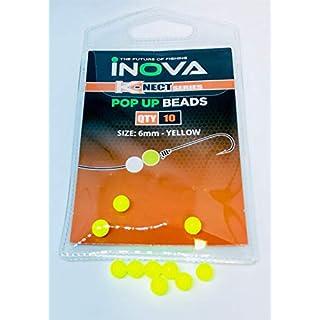Inova Pop Up Floating Beads Yellow 6mm / Leeda