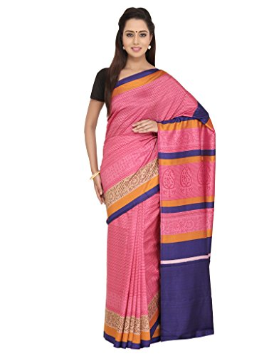 The Chennai Silks - Self Geometric Design Print Semi Dupion Saree-Onion Pink-(CCSW-SY-55)  available at amazon for Rs.400