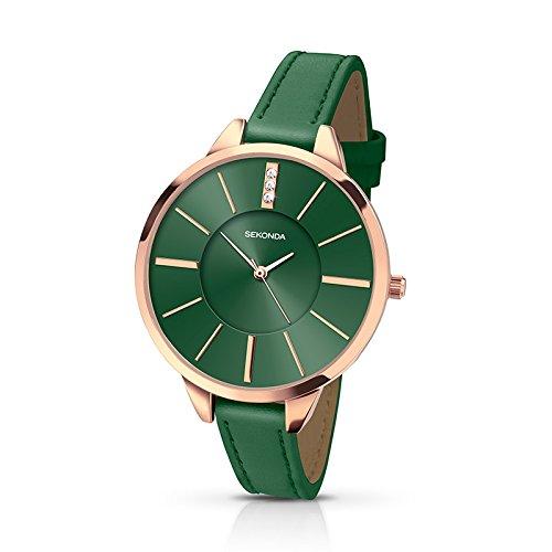 Ladies Sekonda Editions green strap watch 2249
