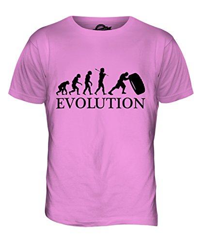 CandyMix Tyre Reifen Flip Evolution Des Menschen Herren T Shirt Rosa