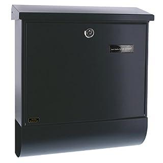 BURG-WÄCHTER, Briefkasten-Set mit Zeitungsbox A4 Einwurf-Format, Verzinkter Stahl, Set Vario ANT, Anthrazitgrau RAL 7016