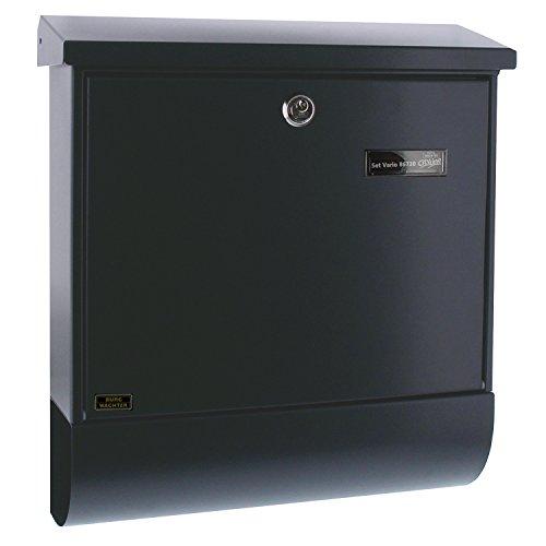 BURG-WÄCHTER, Briefkasten-Set mit Zeitungsbox A4 Einwurf-Format, Verzinkter Stahl, Set Vario ANT,...