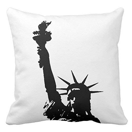 dongpujidiangongsi Pop Art Statue of Liberty American Mojo Sofa Pillow Cover Decorative Couch Cushion Cover for Living Room Canvas Slipcover 18 x 18