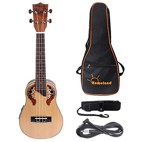 kesoto 1 Satz Konzert Ukelele 4 String Gitarre Mit Tasche Gurt Kabel Für Freunde Familie Kinder Erwachsene Geschenk (Mit String Gitarren-gurt)