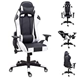 joolihome, Desk Chair,Game chair office chair,Computer Task Chair PU material tilt and lock