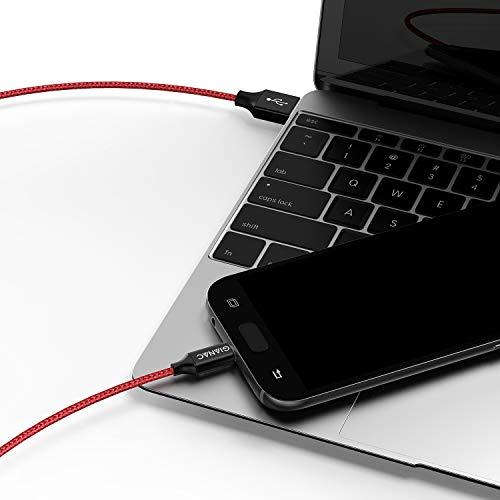 GIANAC Cavo Micro USB [4 Pezzi:0.5m,1m,2m,3m] Cavo Android Nylon Trasferimento Dati e Ricarica Rapida per Compatibile con Samsung S5/S6/S7, Huawei, HTC, Nokia, LG,HTC, Nexus, Kindle, PS4