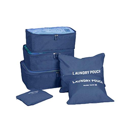Sentao Viaggio Organizer Valigia Set 3 Cubi di Imballaggio + 3 Sacchetti Perfetto di Viaggio Dei Bagagli Organizzatore 6 in 1